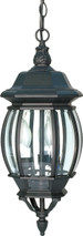 """NUVO Lighting 60/896 Central Park 3 Light 20"""" Hanging Lantern with Clear Beveled Glass"""