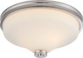 NUVO Lighting 62/423 Cody 2 Light Flushmount Fixture with Satin White Glass (LED Omni Bulbs Included)