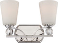 NUVO Lighting 60/5492 Connie 2 Light Vanity Fixture with Satin White Glass