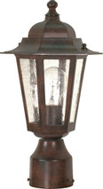 """NUVO Lighting 60/995 Cornerstone 1 Light 14"""" Post Lantern with Clear Seeded Glass"""