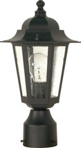 """NUVO Lighting 60/996 Cornerstone 1 Light 14"""" Post Lantern with Clear Seeded Glass"""