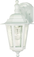 """NUVO Lighting 60/988 Cornerstone 1 Light 13"""" Wall Lantern Arm Down with Clear Seeded Glass"""