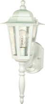 """NUVO Lighting 60/985 Cornerstone 1 Light 18"""" Wall Lantern with Clear Seeded Glass"""