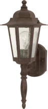 """NUVO Lighting 60/986 Cornerstone 1 Light 18"""" Wall Lantern with Clear Seeded Glass"""