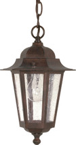 """NUVO Lighting 60/992 Cornerstone 1 Light 13"""" Hanging Lantern with Clear Seeded Glass"""