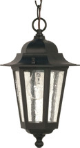 """NUVO Lighting 60/993 Cornerstone 1 Light 13"""" Hanging Lantern with Clear Seeded Glass"""