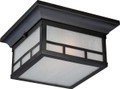 NUVO Lighting 60/5606 Drexel 2 Light Outdoor Flushmount Fixture with Frosted Seeded Glass