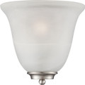 NUVO Lighting 60/5376 Empire 1 Light Wall Sconce Brushed Nickel with Alabaster Glass
