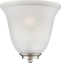 NUVO Lighting 60/5377 Empire 1 Light Wall Sconce Brushed Nickel with Frosted Glass