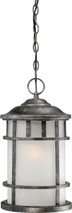 NUVO Lighting 60/5634 Manor 1 Light Outdoor Hanging Fixture with Frosted Seeded Glass