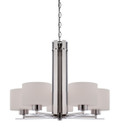 NUVO Lighting 60/5205 Parallel 5 Light Chandelier with Etched Opal Glass