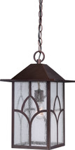 NUVO Lighting 60/5644 Stanton 1 Light Outdoor Hanging Fixture with Clear Seeded Glass