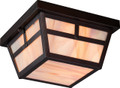 NUVO Lighting 60/5676 Tanner 2 Light Outdoor Flushmount Fixture with Honey Stained Glass