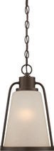 NUVO Lighting 62/685 Tolland LED Outdoor Hanging with Champagne Linen Glass
