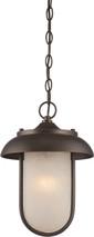NUVO Lighting 62/675 Tulsa LED Outdoor Hanging with Satin Amber Glass