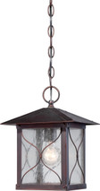 NUVO Lighting 60/5614 Vega 1 Light Outdoor Hanging Fixture with Clear Seeded Glass