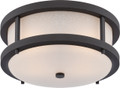 NUVO Lighting 62/653 Willis LED Outdoor Flushmount Fixture with Antique White Glass