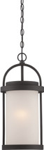 NUVO Lighting 62/655 Willis LED Outdoor Hanging with Antique White Glass