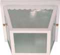 """NUVO Lighting 60/470 2 Light 10"""" Carport Flushmount with Textured Frosted Glass"""