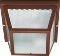 """NUVO Lighting 60/472 2 Light 10"""" Carport Flushmount with Textured Frosted Glass"""