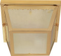 """NUVO Lighting 60/471 2 Light 10"""" Carport Flushmount with Textured Frosted Glass"""