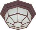 """NUVO Lighting 60/579 1 Light CFL 12"""" Ceiling Spider Cage Fixture (1) 18W GU24 (Bulb Included)"""