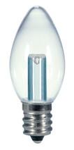 SATCO S9156 Set of 6 Candle LED Lightbulbs (0.5W/C7/CL/LED/120V/CD)
