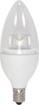 SATCO S8950 Set of 6 Candle LED Lightbulbs (2.8CTC/LED/3000K/165L/120V)