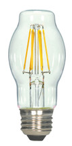 SATCO S9576 Set of 6 LED Filament LED Lightbulbs (6.5BT15/CL/LED/E26/27K/120V)