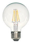 SATCO S9564 Set of 6 LED Filament LED Lightbulbs (6.5G25/CL/LED/E26/27K/120V)