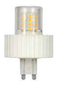SATCO S9228 Set of 6 Minature LED Lightbulbs (LED/5.0W/G9/360L/3000K/DIM)