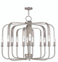 LIVEX Lighting 51939-91 Addison Contemporary Chandelier in Brushed Nickel (12 Light)