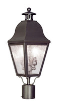 LIVEX Lighting 2552-07 Amwell Outdoor Post Lantern in Bronze (2 Light)