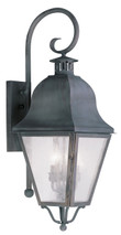 LIVEX Lighting 2555-61 Amwell Outdoor Wall Lantern in Charcoal (3 Light)