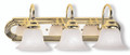 LIVEX Lighting 1003-25 Belmont Bath Light in Polished Brass & Polished Chrome (3 Light)