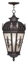LIVEX Lighting 2199-07 Berkshire Outdoor Chain Lantern in Bronze (3 Light)