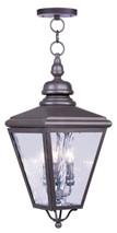 LIVEX Lighting 2035-07 Cambridge Outdoor Chain Lantern in Bronze (3 Light)