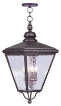 LIVEX Lighting 2037-07 Cambridge Outdoor Chain Lantern in Bronze (4 Light)