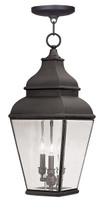LIVEX Lighting 2597-07 Exeter Outdoor Chain Lantern in Bronze (3 Light)