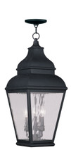LIVEX Lighting 2610-04 Exeter Outdoor Chain Lantern in Vintage Pewter (3 Light)