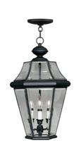 LIVEX Lighting 2365-04 Georgetown Outdoor Chain Lantern in Black (3 Light)