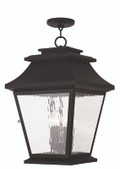 LIVEX Lighting 20243-07 Hathaway Outdoor Chain Lantern in Bronze (4 Light)