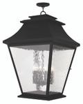 LIVEX Lighting 20253-04 Hathaway Outdoor Chain Lantern in Black (6 Light)