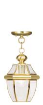 LIVEX Lighting 2152-02 Monterey Outdoor Chain Lantern in Polished Brass (1 Light)