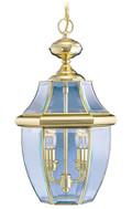 LIVEX Lighting 2255-02 Monterey Outdoor Chain Lantern in Polished Brass (2 Light)