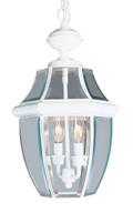 LIVEX Lighting 2255-03 Monterey Outdoor Chain Lantern in White (2 Light)