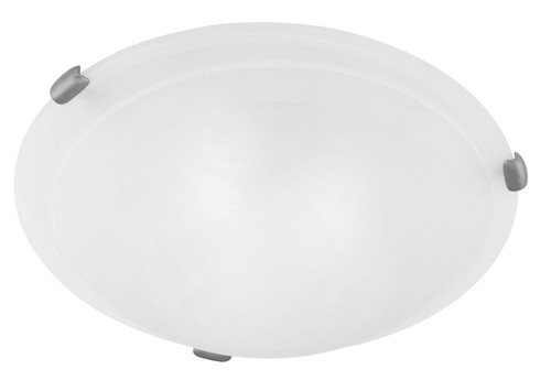 LIVEX Lighting 8010-91 Oasis Contemporary Flushmount in Brushed Nickel (2 Light)