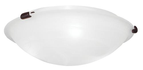 LIVEX Lighting 8012-07 Oasis Contemporary Flushmount in Bronze (3 Light)