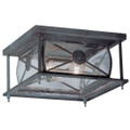 LIVEX Lighting 2090-61 Providence Outdoor Flushmount in Charcoal (2 Light)