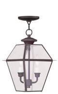 LIVEX Lighting 2285-07 Westover Outdoor Chain Lantern in Bronze (2 Light)